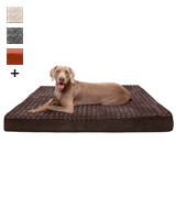 Furhaven Traditional Orthopedic Rectangular Mattress Dog Bed