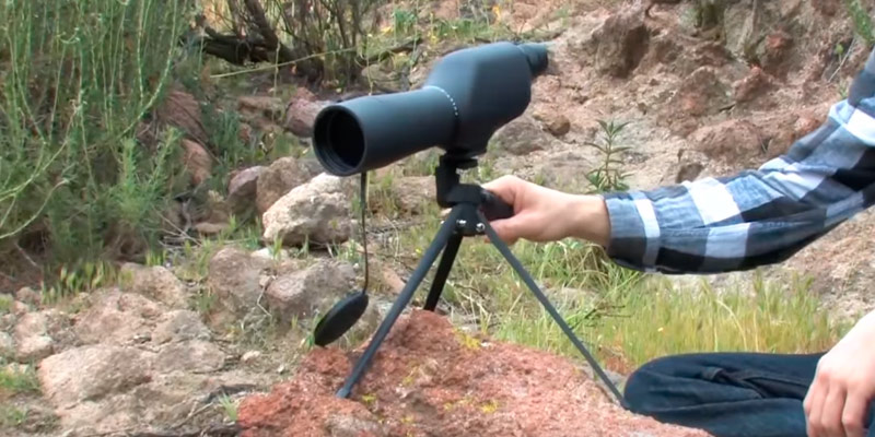 BARSKA 20-60x60 Waterproof Spotting Scope in the use