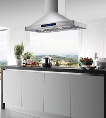 Review of Golden Vantage 36-Inch AKDY 36 RH0184 Island Mount LED Display Touch Control Stainless Steel Kitchen Cooking Fan Range Hood