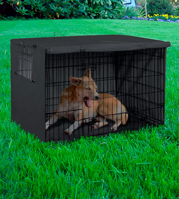 Review of Explore Land Dog Crate Cover Durable Polyester Pet Kennel Cover Universal Fit