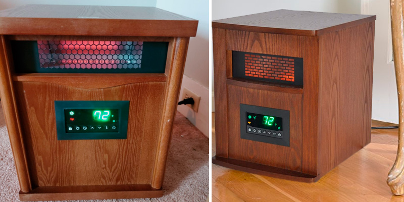 Review of LIFE SMART Quartz w/Wood Infrared Heater