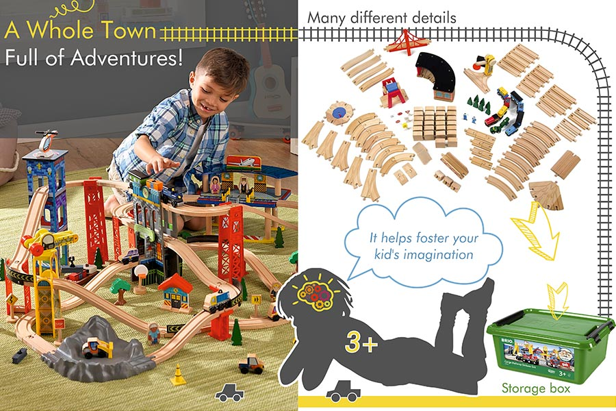 Comparison of Wooden Train Sets for Toddlers That Encourage Child's Development