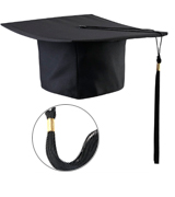 TINKSKY Unisex Adult Graduation Cap with Tassel Adjustable