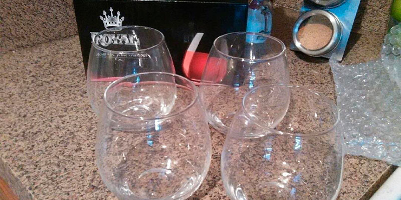 Royal Stemless Wine Glass Set application