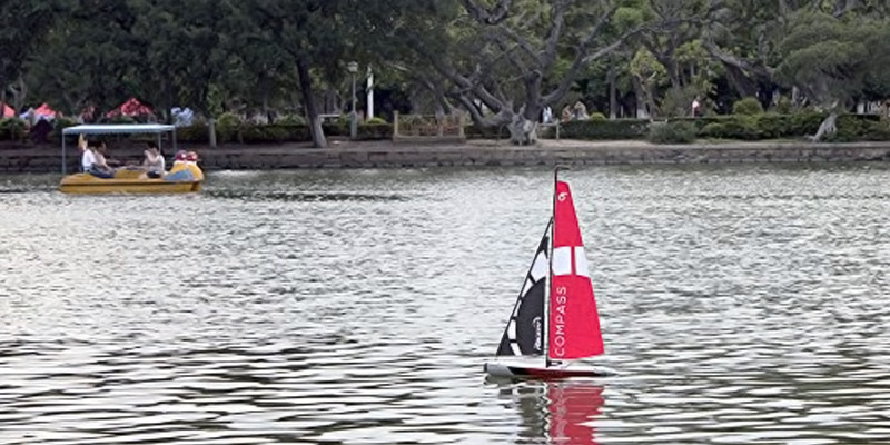POCO DIVO Compass RG65 Class Competition Sailboat RC in the use