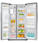 Samsung RS25J500DSR 24.52 cu. ft. Freestanding Side by Side Refrigerator