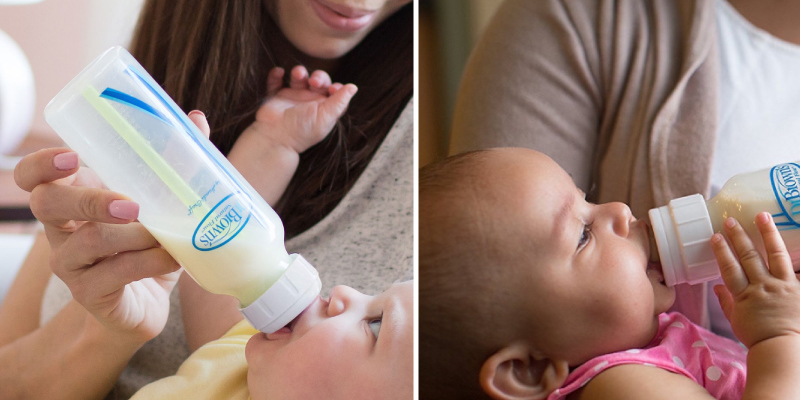 Review of Dr. Brown's (8oz 4-Pack) Silicone Options+ Anti-Colic Baby Bottles