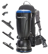 Powr-Flite BP6S Comfort Pro Backpack Vacuum Cleaner