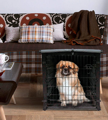 Review of yotache Dog Crate Cover for 18 22 24 30 36 42 48 Inches Double Door Wire Dog Cage