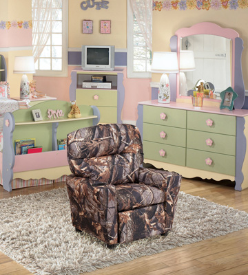 Review of Flash Furniture BT-7950-KID-CAMO-GG Camouflaged Fabric Kids Recliner with Cup Holder