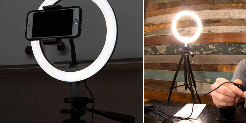 "Review of UBeesize 10"" Selfie Ring Light with 50"" Extendable Tripod & Cell Phone Holder"