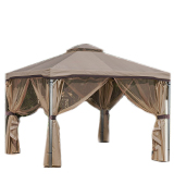 Great Deal Furniture Sonoma 10'x10' Iron Gazebo with Soft Vented Roof