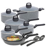 BLACK + DECKER 83355 Titanium Nonstick Interior Cookware Set