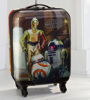 "Review of Star Wars Luggage Droids 16"" Hard Side"