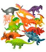 Prextex Assorted Dinosaur Figures with Dinosaur Book