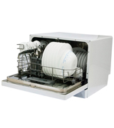 Magic Chef MCSCD6W3 6 Place Settings Countertop Dishwasher, White