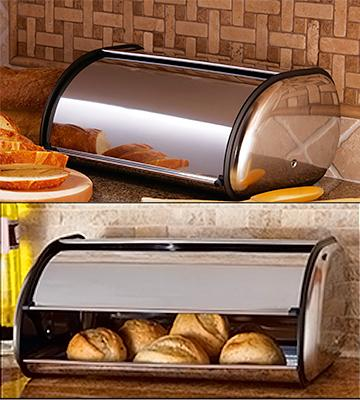 Review of Home-it Swing Down Stainless Steel Bread Box