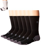 Under Armour 6-Pack Adult Resistor 3.0 Crew Socks