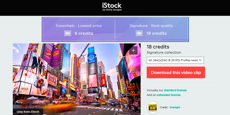 Detailed review of iStock HD Video Clips and 4K Stock Footage