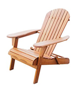 Plant Theatre Adirondack Chair Folding, Acacia Hardwood