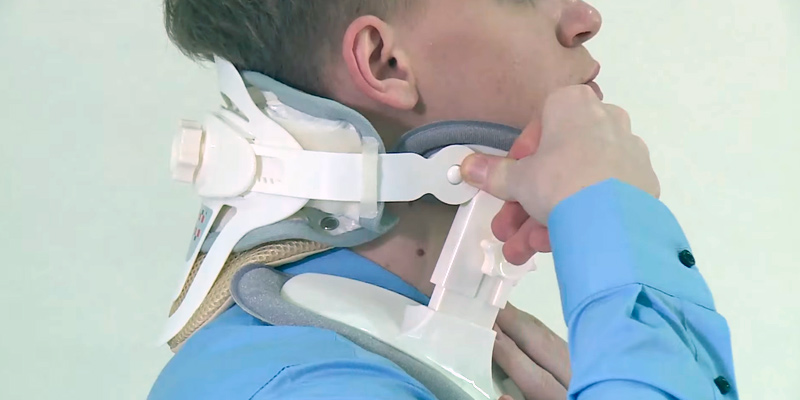 Remedy For Life Adjustable Neck Traction Device Cervical Collar & Decompression Brace in the use