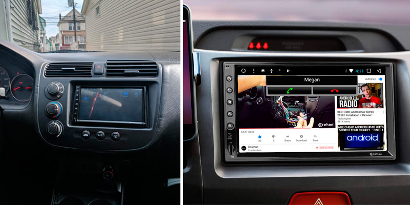Corehan COCS-JD-AN-03(2/32) Double Din Android Car Stereo in the use