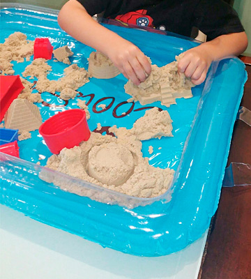 Review of CoolSand Kinetic Sand With Inflatable Sandbox